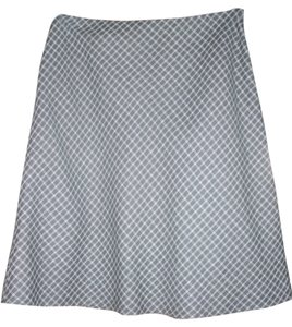Ann Taylor LOFT Skirt Black & White Lattice Print