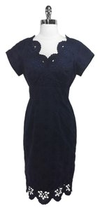 Navy Maxi Dress by MILLY Floral Cotton Weekend Tea Party Office Work