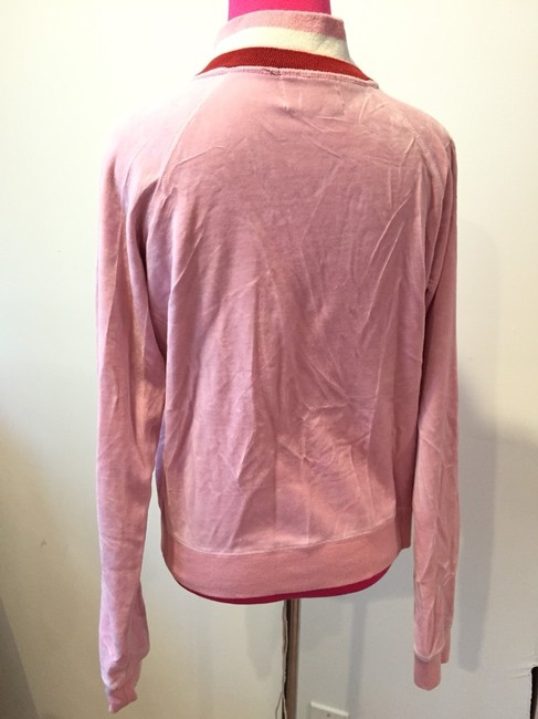 Juicy Couture Juicy Couture Pink Velour Stripe Zip Jacket
