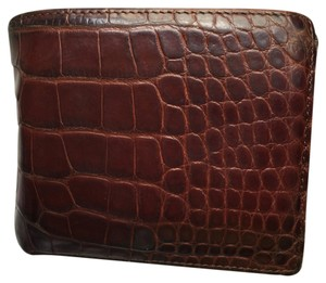 Ralph Lauren Ralph Lauren Mens Hipster Authentic Alligator Wallet