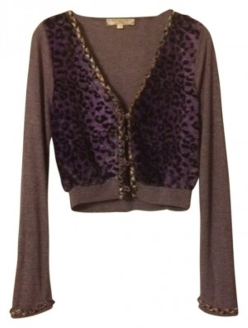 Preload https://item3.tradesy.com/images/chi-chi-london-purple-cardigan-size-12-l-14242-0-0.jpg?width=400&height=650