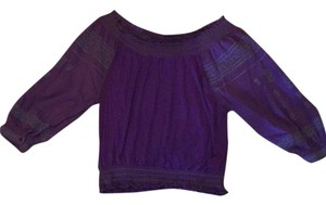 Free People Elastic Top purple
