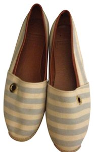 Hunter Sky blue with Beige Stripe Flats