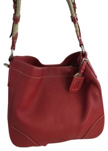 Prada Leather Daino Vitello Large Shoulder Bag