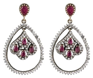Ruby dropped earrings
