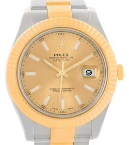 Rolex Rolex Datejust II Steel 18K Yellow Gold Oyster Bracelet Watch 116333