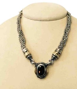 Lagos Vintage stunning Lago 18K 925 Sterling smokey Topas Enhancer Necklace