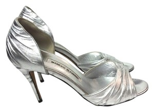 Manolo Blahnik Leather silver Pumps