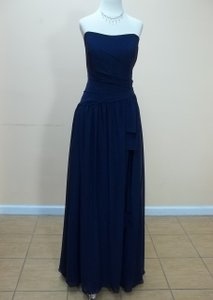 Alfred Angelo Navy Chiffon 7324l Formal Bridesmaid/Mob Dress Size 16 (XL, Plus 0x)