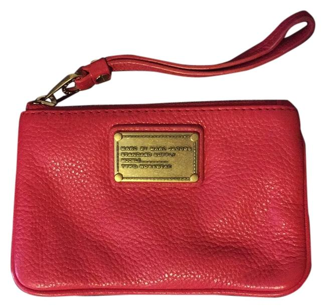 Item - Red Coral Leather Wristlet