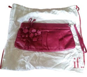 Isabella Fiore fuschia leather Clutch