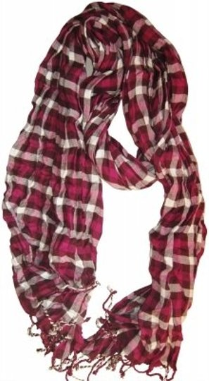 Preload https://img-static.tradesy.com/item/142457/aerie-maroon-and-white-plaid-scarfwrap-0-0-540-540.jpg