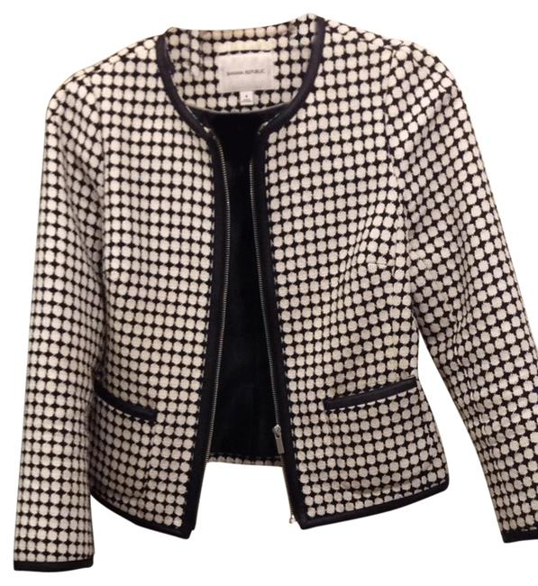 Banana Republic Black And White Blazer
