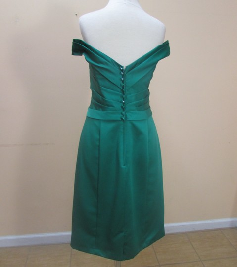 Alfred Angelo Emerald Satin 7330 Formal Bridesmaid/Mob Dress Size 14 (L)