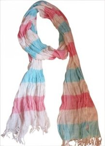 Aerie Aerie Turquoise & Pink stripe scarf