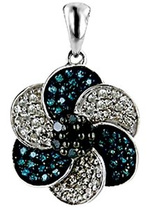 ABC Jewelry Color diamond pendant with accents
