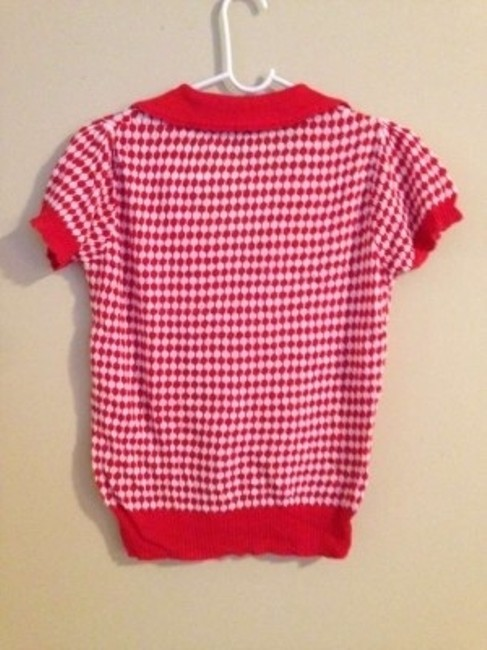 H&M Top Red and white