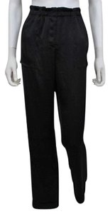 BCBGMAXAZRIA Dark Blue Loose Boyfriend Pants Dark Navy