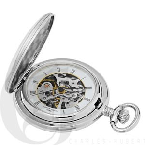 Engravable Charles Hubert Mechanical Pocket Watch Personalized Engraved Monogram Grooms Groomsmen Gift Brand New