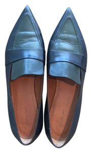 Céline Two tone navy/dark green Flats