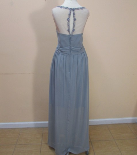 Alfred Angelo Cameo/Smoke Chiffon 8102l Formal Bridesmaid/Mob Dress Size 16 (XL, Plus 0x)