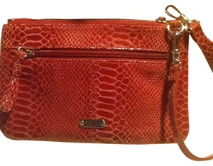 Perlina Snakeskin Crossbody Croc Wristlet in reddish