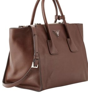 Added To Ping Bag Prada Tote In Brown