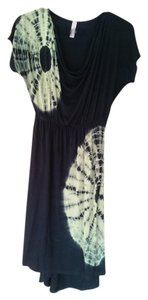 Unknown short dress black with lime green tie dye on Tradesy