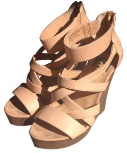 BC Footwear Nude Wedges