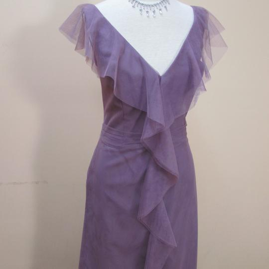 Alfred Angelo Wisteria Soft Net 8618l Formal Bridesmaid/Mob Dress Size 10 (M)