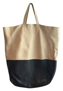 Céline Tote in Cream And Black