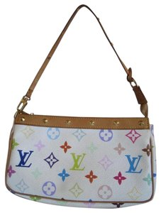 Louis Vuitton Rainbow White Multicolor Rainow Monogram Clutch