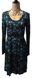 Karen Kane short dress Black and Teal Stretchy Knit Work on Tradesy