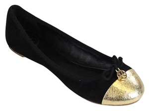 Tory Burch Black w. Gold toe Flats