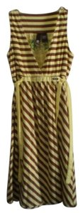Element short dress Yellow/Brown on Tradesy