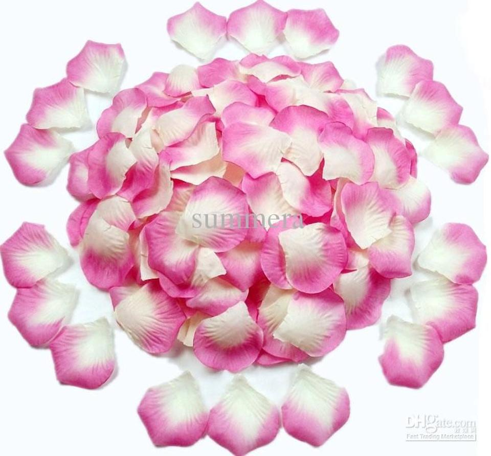Silver 2000x hot pink white shiny silk rose petal centerpieces silver 2000x hot pink white shiny silk rose petal centerpieces flower baskets more color availables mightylinksfo