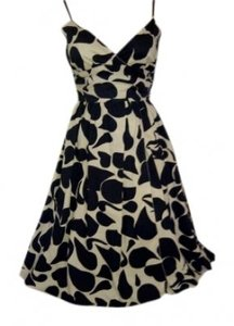 Max Studio short dress Black & Ivory on Tradesy
