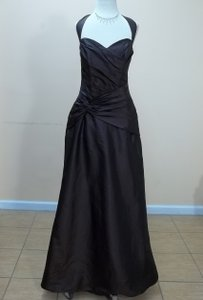 Impression Bridal Espresso Taffeta 1748 Formal Bridesmaid/Mob Dress Size 12 (L)