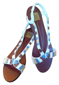 Dolce Vita Dv Beaded Flat White Sandals