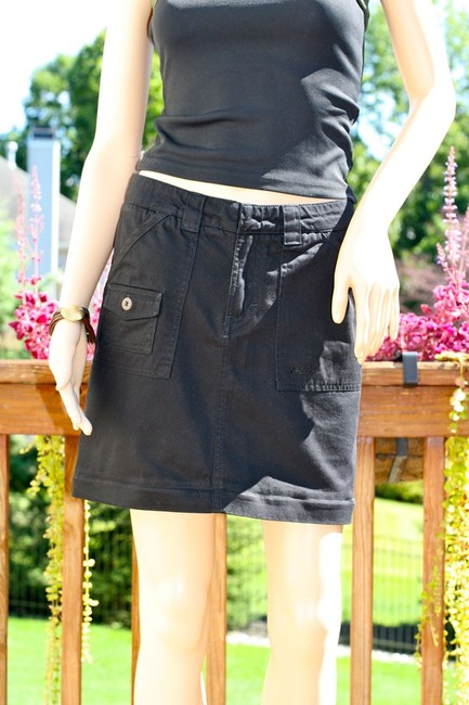 Kahala Cargo Women Mini Skirt Black