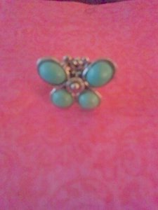 SALE! New in box turquoise butterfly ring