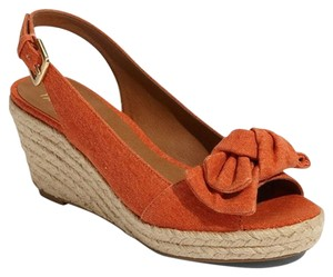 Franco Sarto Espadrille Wedge Orange Wedges