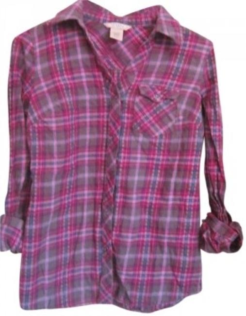 Preload https://item2.tradesy.com/images/arizona-jean-company-purple-plaid-button-down-top-size-4-s-142516-0-0.jpg?width=400&height=650