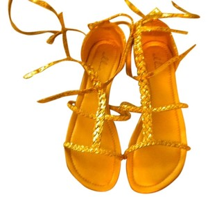 Ellie Shoes Gold Sandals