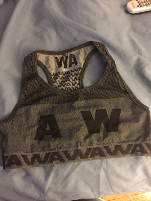 Item - Gray X H&m Jacquard Knit Racerback Top Activewear Sports Bra Size 8 (M, 29, 30)