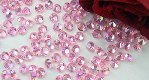 Light Pink - 4000x 4.5mm 1/3 Ct Acrylic Diamond Scatter Confetti Centerpieces Table Top Decor Vase Filler