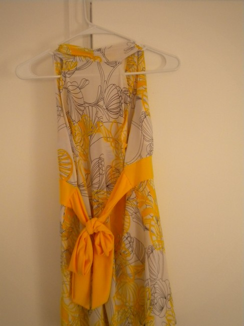 Charlotte Russe Yellow and White Halter Top