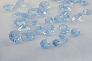 Light Blue - 2000x 4.5mm 1/3 Ct Acrylic Diamond Scatter Confetti Centerpieces Table Top Decor Vase Filler