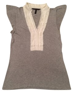 BCBGMAXAZRIA Top grey and white