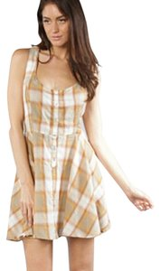 RVCA short dress plaid brown on Tradesy